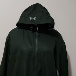 Under Armour Forest Green Loose Fit Hooded Jacket